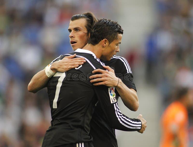 Cristiano Ronaldo e Gareth Bale do Real Madrid fotografia de stock
