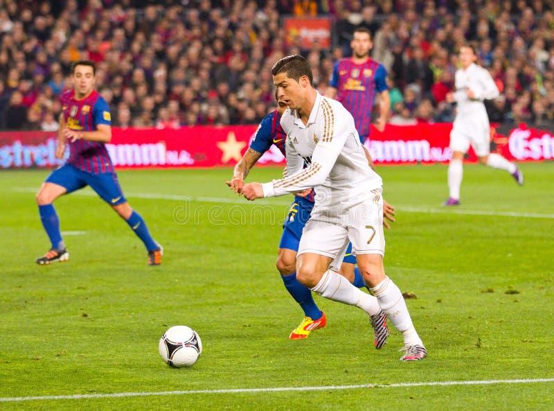 Cristiano Ronaldo nell'azione fotografie stock libere da diritti