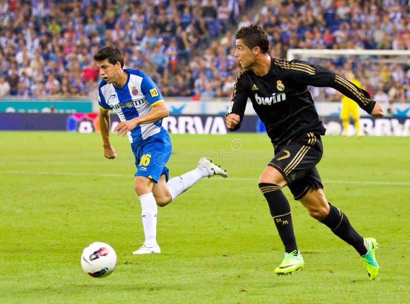 Cristiano Ronaldo que pinga imagem de stock