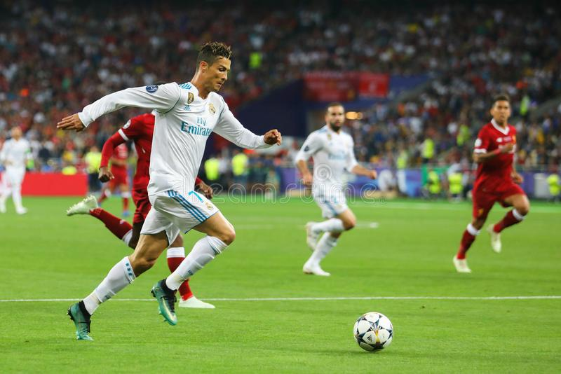 Cristiano Ronaldo Real imagem de stock