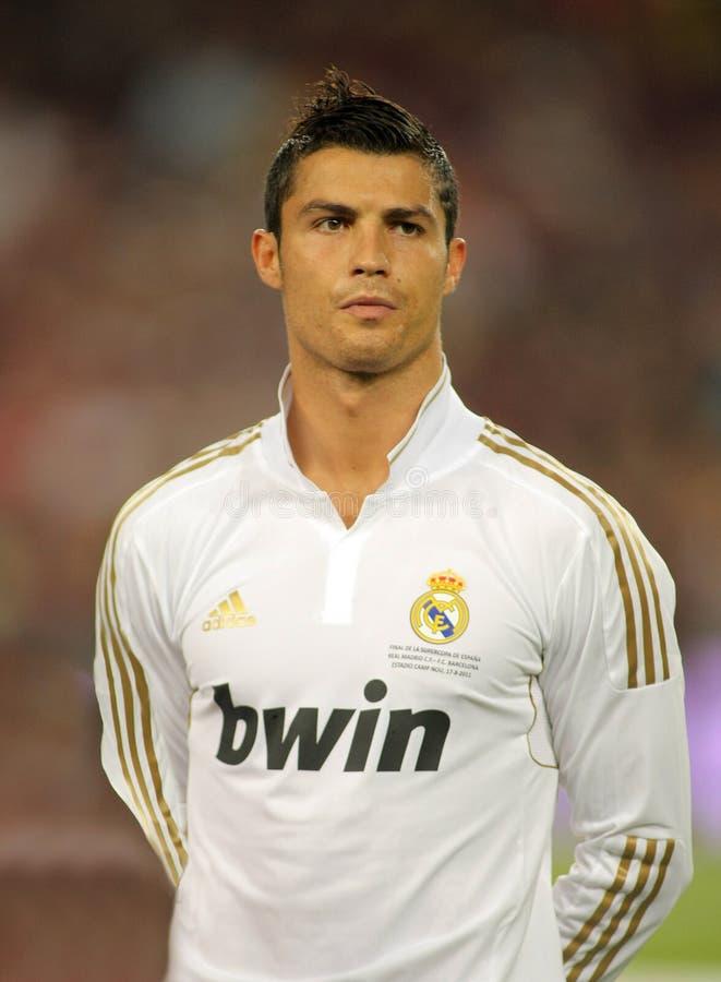 Cristiano Ronaldo of Real Madrid royalty free stock photo