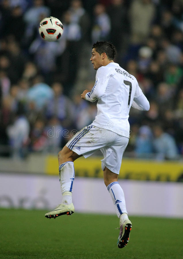 Cristiano Ronaldo of Real Madrid royalty free stock photography