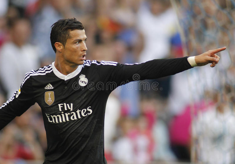 Cristiano Ronaldo of Real Madrid stock photos