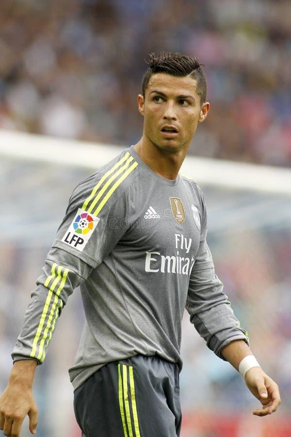 Cristiano Ronaldo van Real Madrid royalty-vrije stock foto