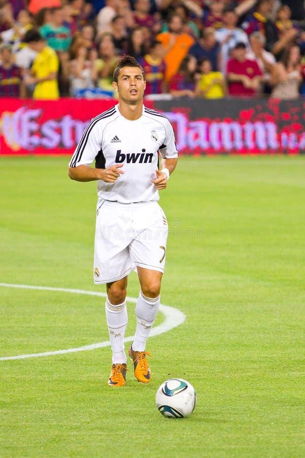 Cristiano Ronaldo von Real Madrid stockbilder