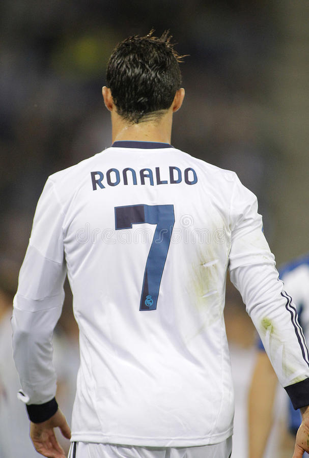 Cristiano Ronaldo von Real Madrid stockfotografie