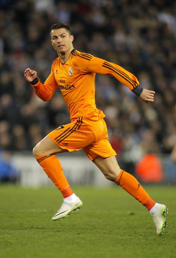 Cristiano Ronaldo von Real Madrid lizenzfreie stockfotografie