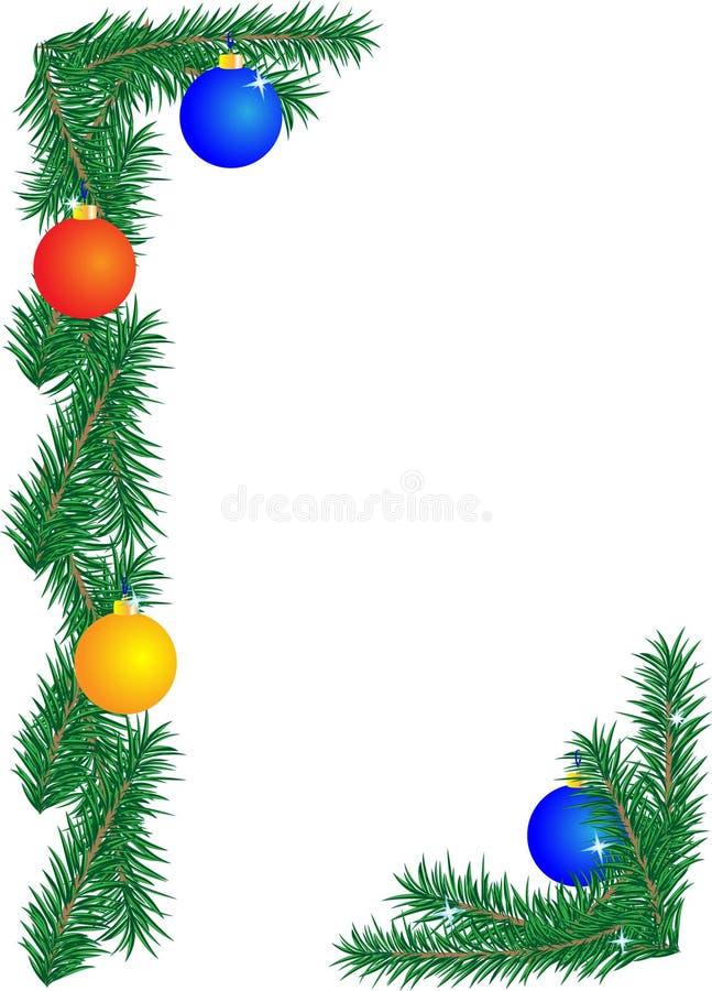 cristmas граници иллюстрация вектора