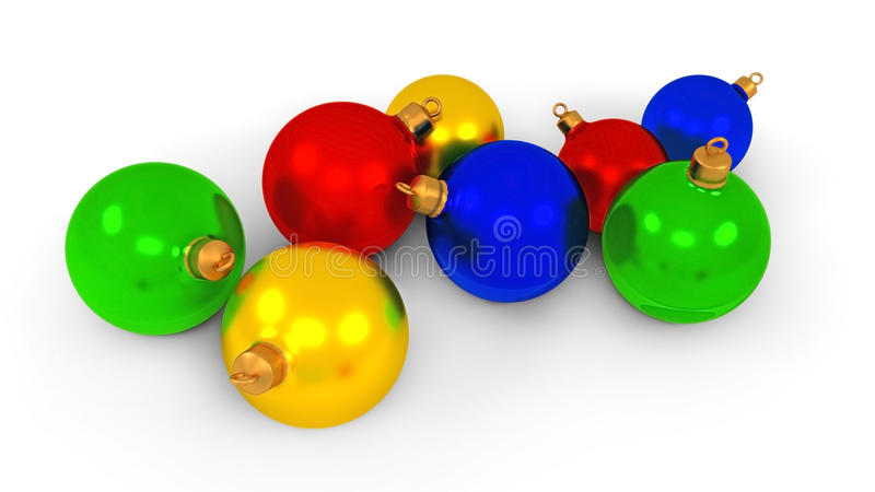 Download Cristmas balls stock illustration. Illustration of isolated - 26627837