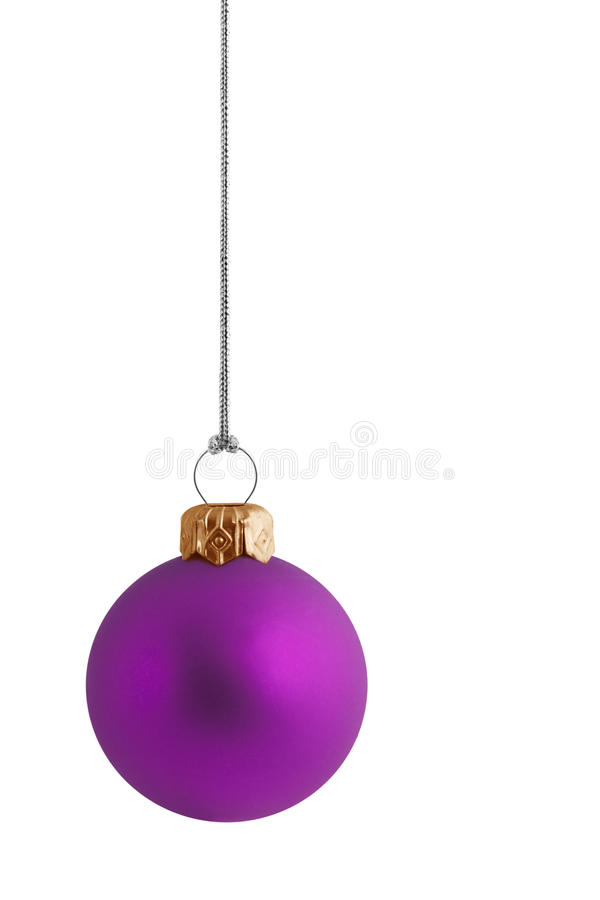 cristmas bauble упрощают пурпур стоковые фото