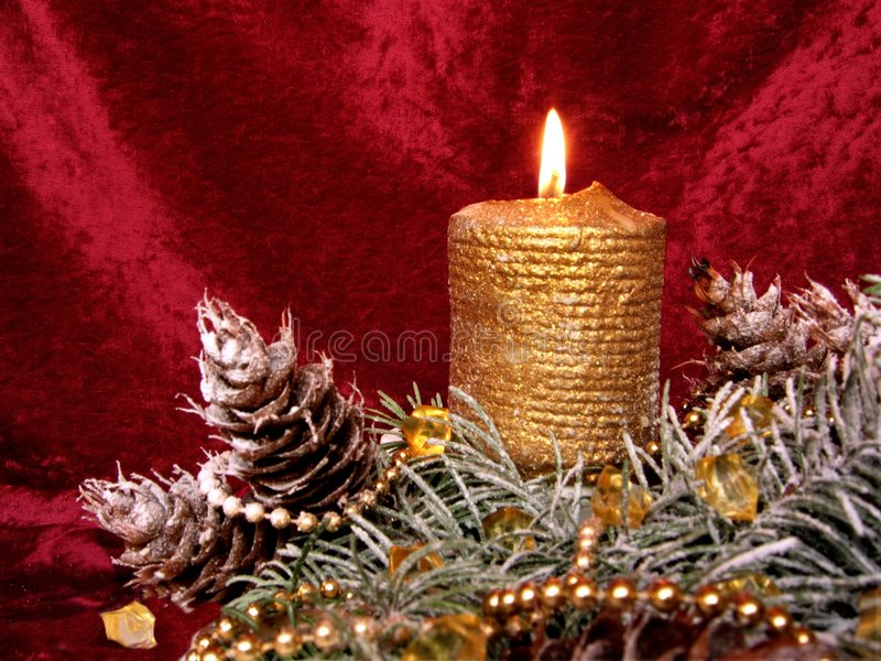 Cristmas candle royalty free stock images