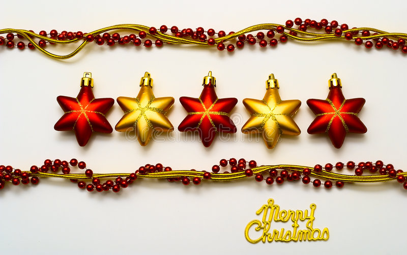 Download Cristmas card stock photo. Image of horizontal, gold, decoration - 6903456