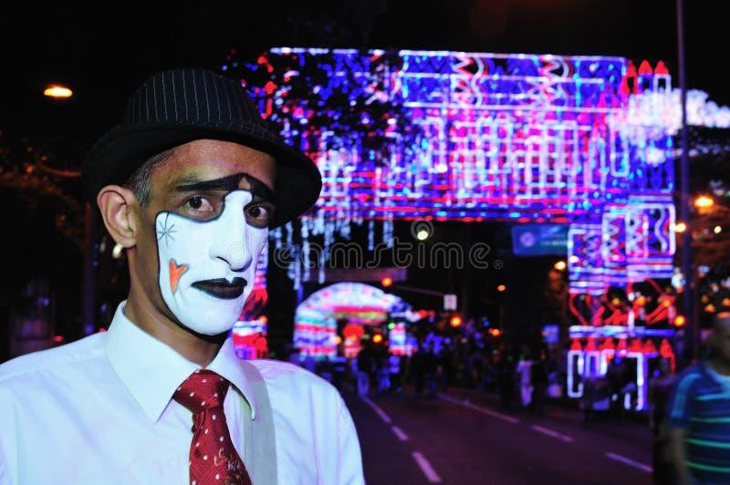 Cristmas oświetlenie w MEDELLIN zdjęcia stock