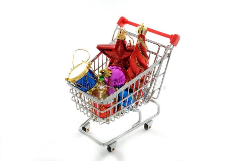 cristmas ornamentów na zakupy. obrazy royalty free