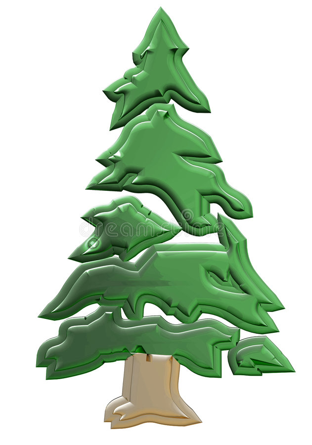 Download Cristmas tree stock illustration. Illustration of horizon - 454481