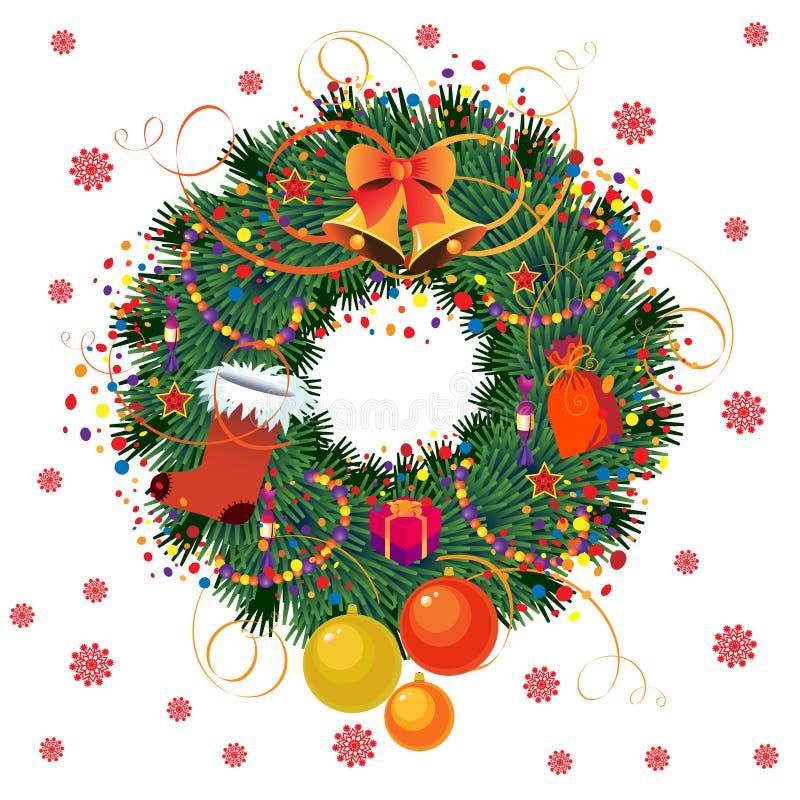 Cristmas Wreath stock abbildung