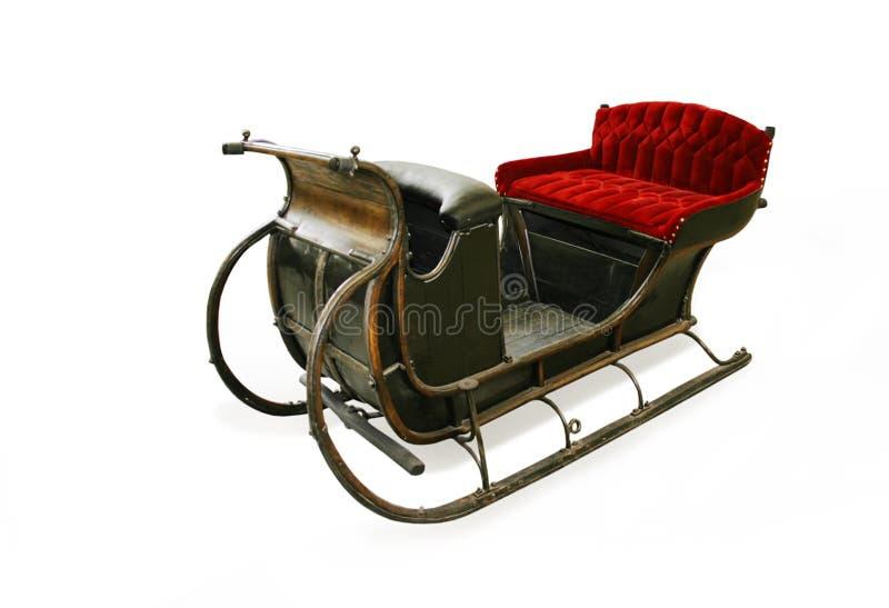 cristmassantas sleigh royaltyfria bilder