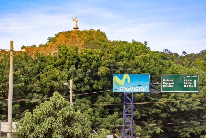 Cristo da estátua da mercê situada na cidade de San Juan d fotos de stock royalty free