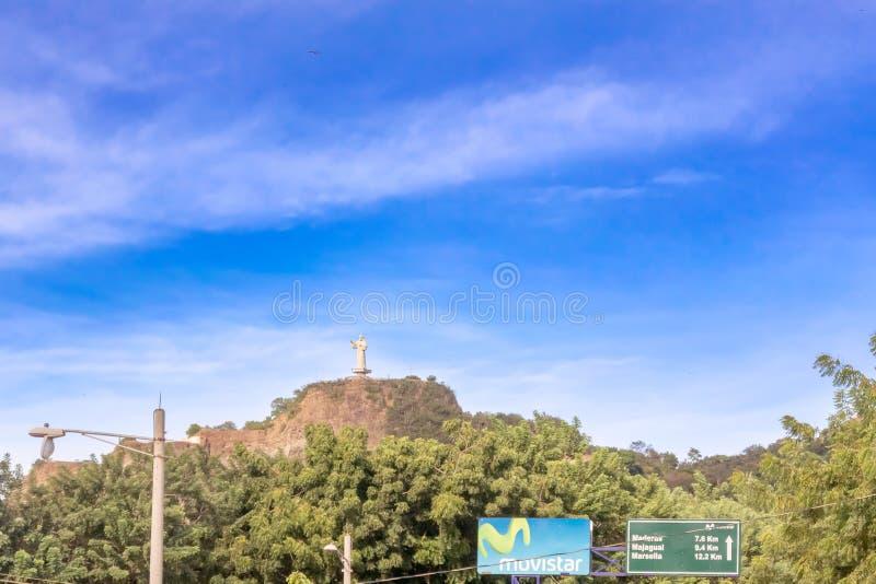 Cristo da estátua da mercê situada na cidade de San Juan d imagens de stock royalty free