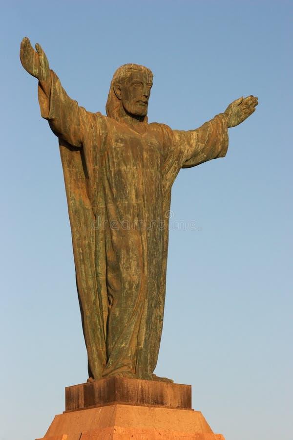 Cristo De La Concordia em Arica imagem de stock