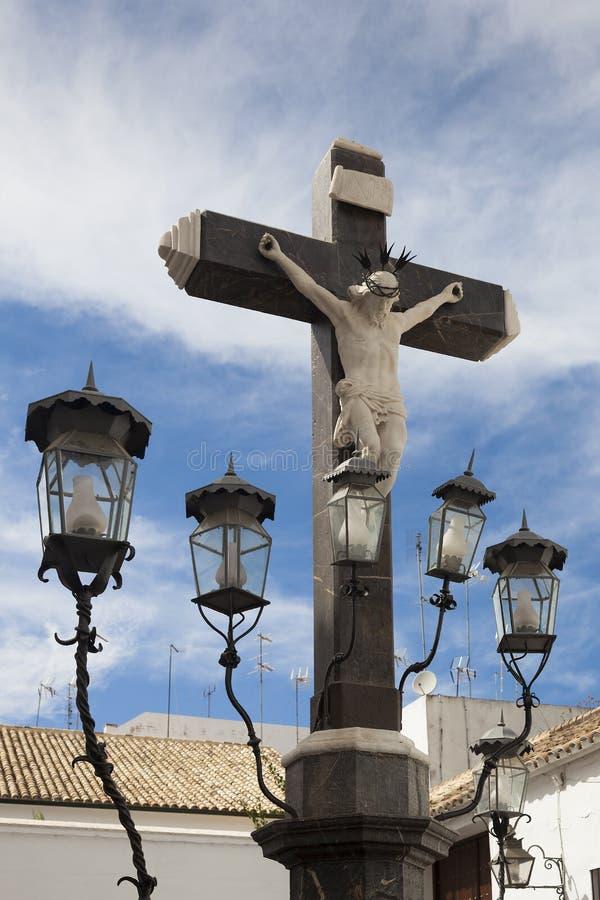Cristo DE los Faroles vierkant, Cordoba royalty-vrije stock foto's