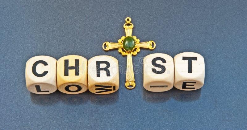 Cristo e l'incrocio immagine stock