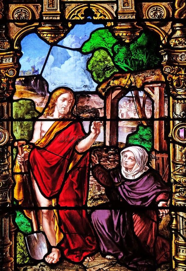 Cristo e Mary Magdalene aumentados fotografia de stock