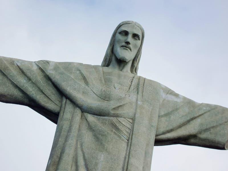 Cristo el redentor en el Brasil fotos de archivo