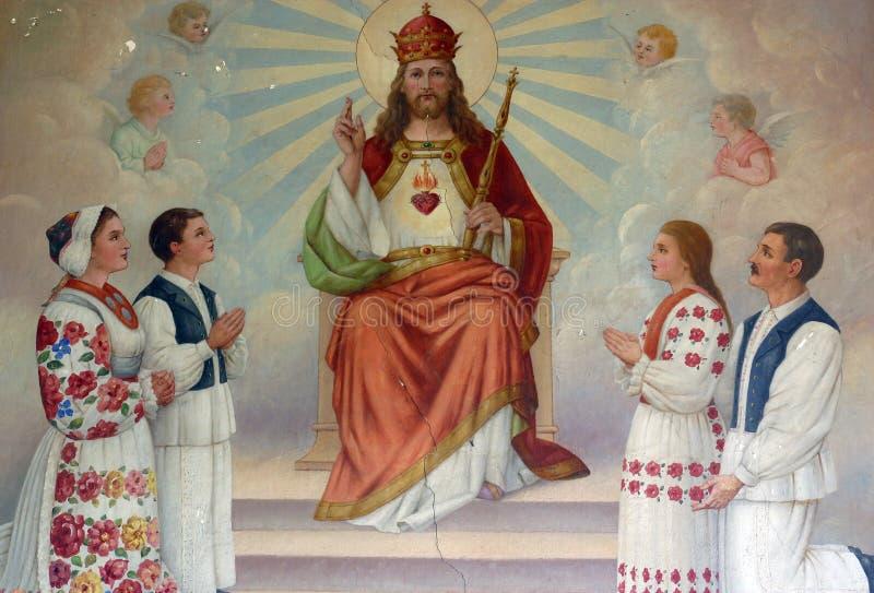 Cristo el rey ilustración del vector