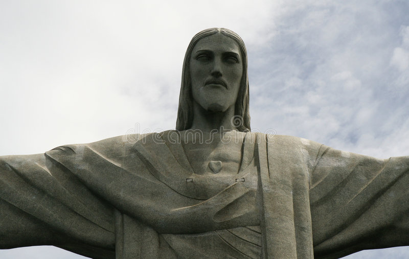 Cristo em Brasil fotografia de stock