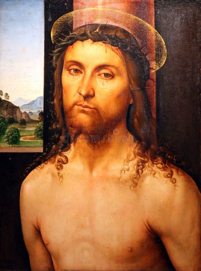 Cristo ha incoronato con le spine fotografia stock libera da diritti