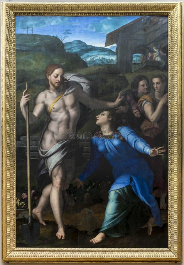 Cristo il giardiniere compare al san Madeleine, o noli me tangere Di Cosimo di Mariano Tori di Agnolo, conosciuto come Bronzino F immagini stock