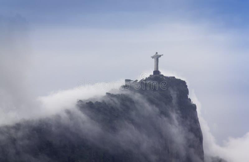 Cristo il redentore, Rio de Janeiro, Brasile fotografia stock libera da diritti
