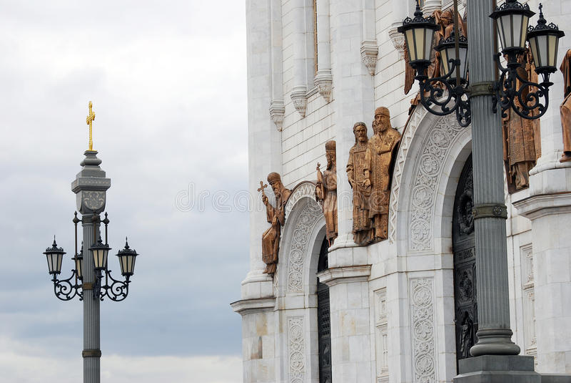 Cristo la chiesa del salvatore a Mosca, Russia immagini stock libere da diritti