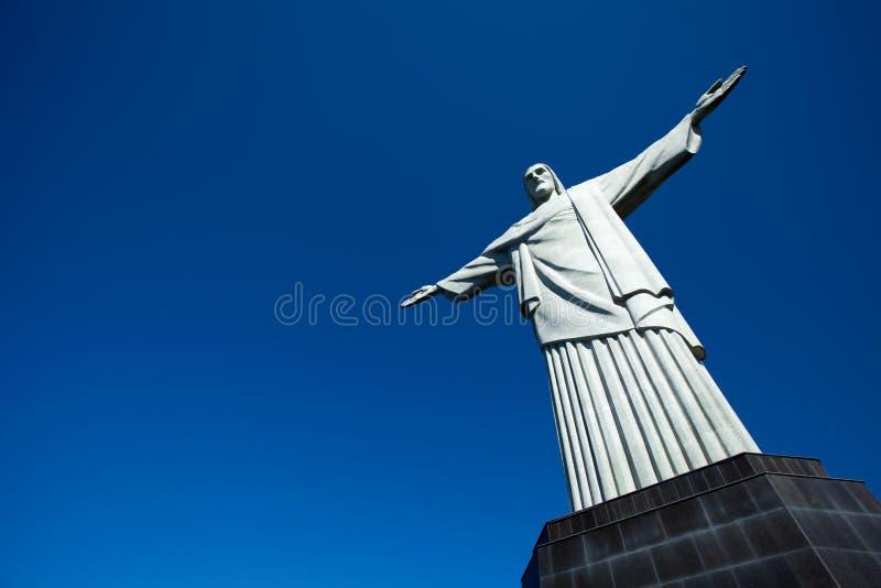 Cristo la estatua del redentor en Rio de Janeiro en el Brasil imágenes de archivo libres de regalías