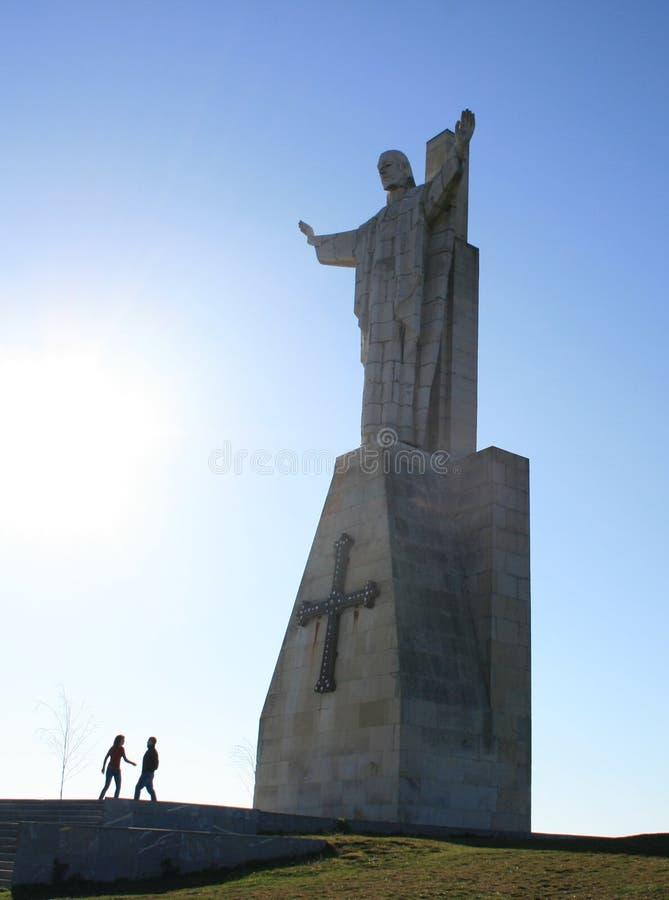 Cristo na montagem Naranco imagem de stock royalty free