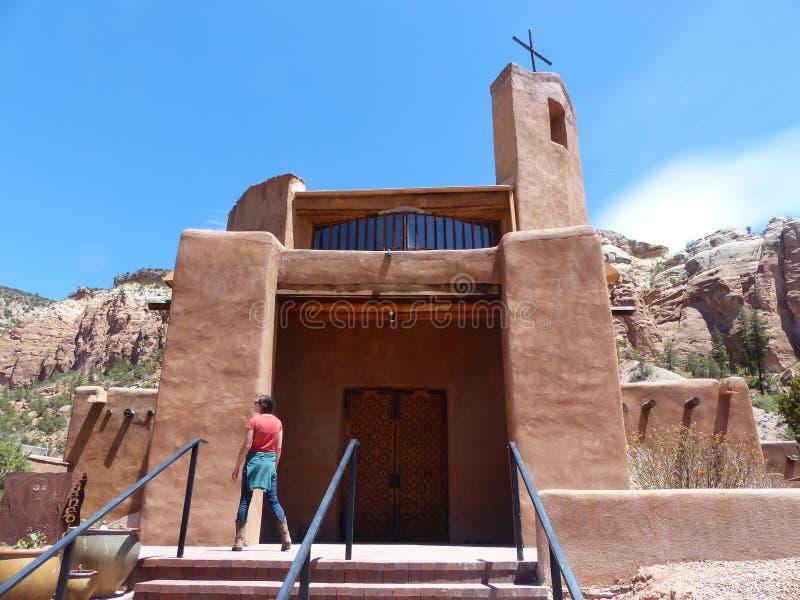 Cristo no deserto com mulher foto de stock royalty free
