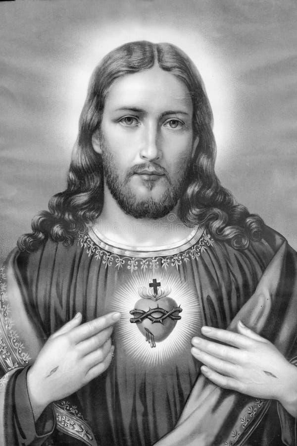 Cristo oído hablar imagen de archivo libre de regalías