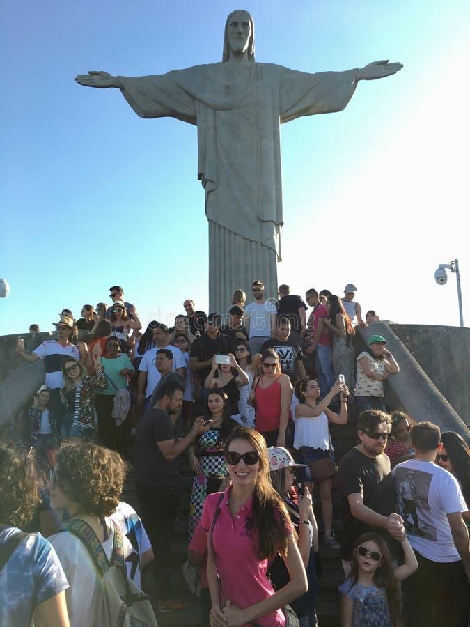 Cristo Redentor di Rio de Janeiro immagini stock