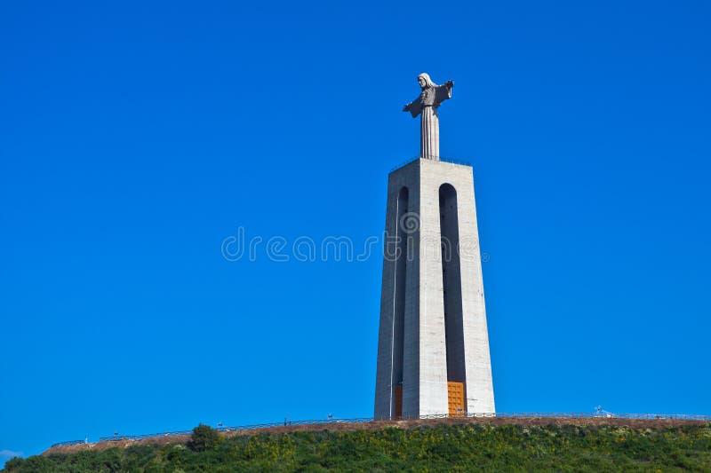 Cristo Rei在里斯本,葡萄牙 库存照片