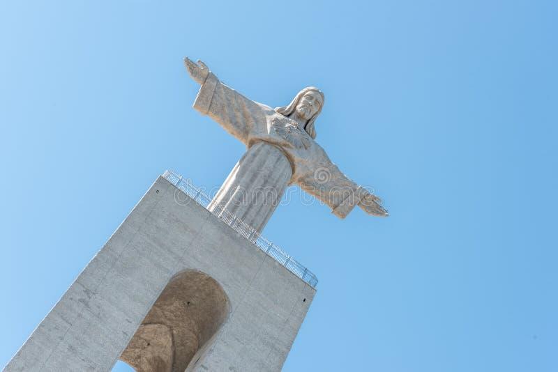 Cristo Rei Monument em Almada, Lisboa Portugal fotografia de stock
