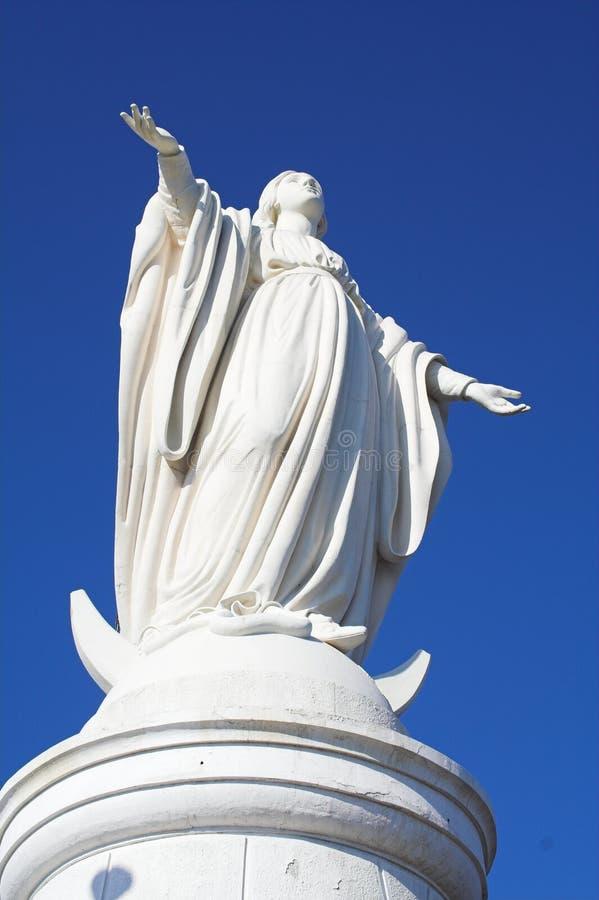cristobal玛丽亚纪念碑圣virgen 图库摄影