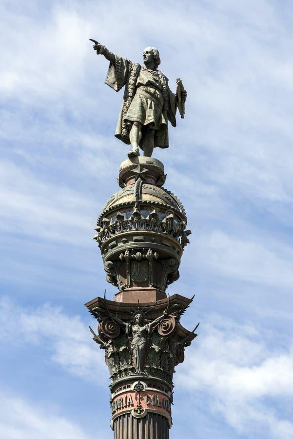 Cristobal Colon Monument images libres de droits