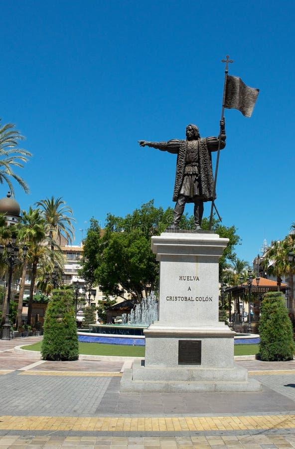 Cristobal Colon Monument Huelva, Andalusia spain fotografia stock libera da diritti