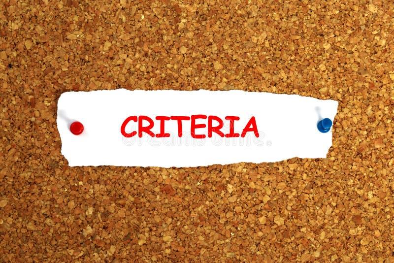Criteria. Illustration on white paper stock illustration