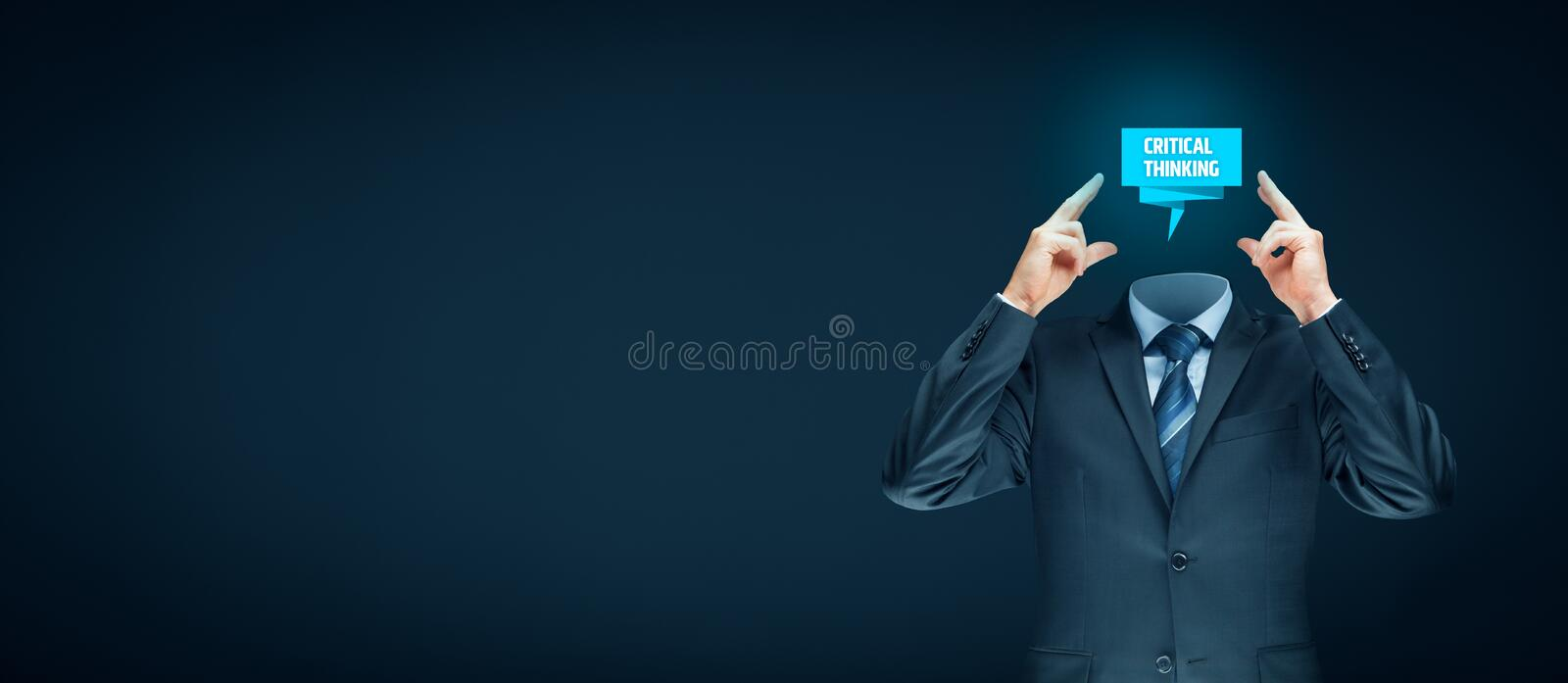 Critical thinking concept stock photography