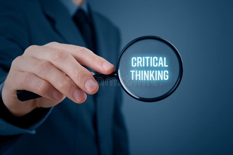 Critical thinking concept royalty free stock images