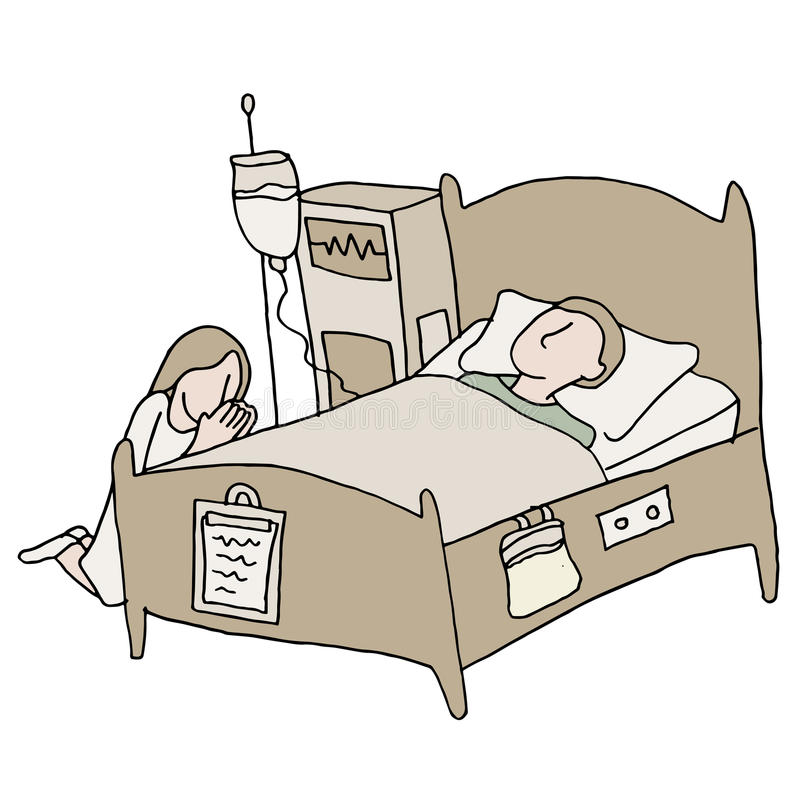 Critically Ill Patient. An image of a critically ill patient royalty free illustration