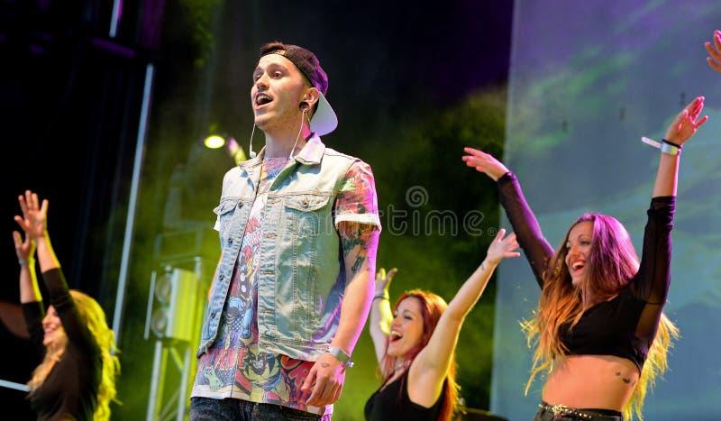 Critika u. Saik (spanische Hip-Hop-Band) am Primavera-Pop-Festival stockfoto