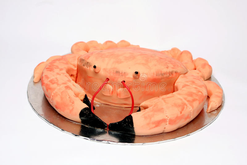 Critiquez le gâteau d'anniversaire formé image stock